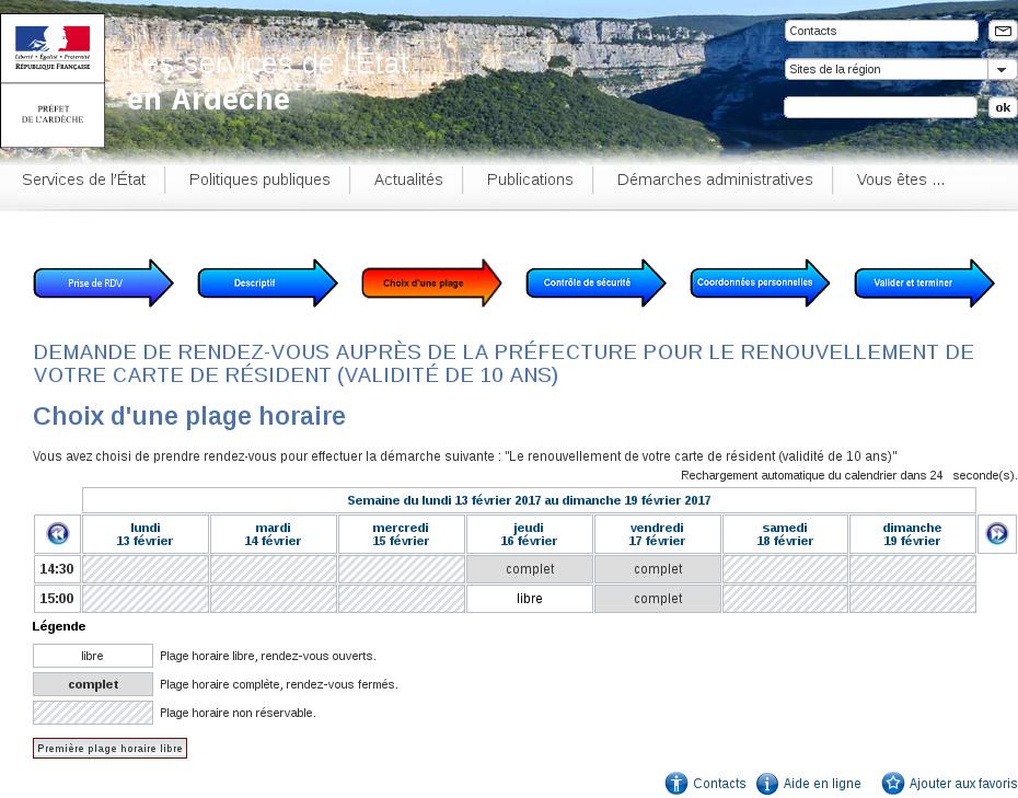 Site internet de Service Public.